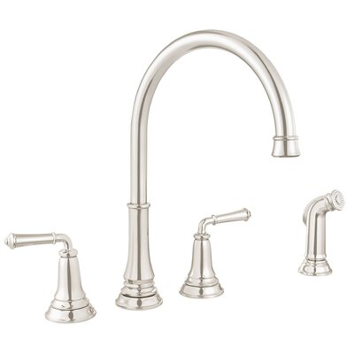 Delancey Double Handle Kitchen Faucet Finish: Brushed Nickel