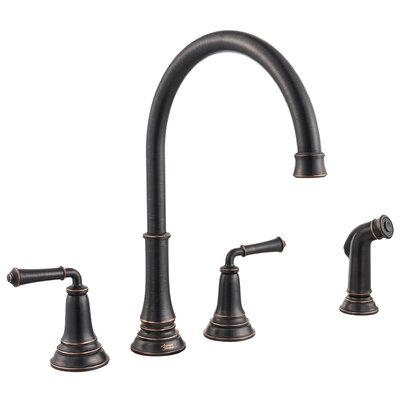 Delancey Double Handle Kitchen Faucet Finish: Legacy Bronze