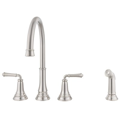 Delancey Double Handle Kitchen Faucet Finish: Stainless Steel