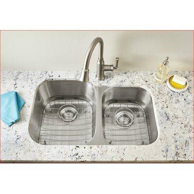 Portsmouth 31.5 x 20.5 Double Basin Undermount Kitchen Sink
