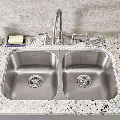 Portsmouth 32.25 x 18.5 Double Basin Undermount Kitchen Sink