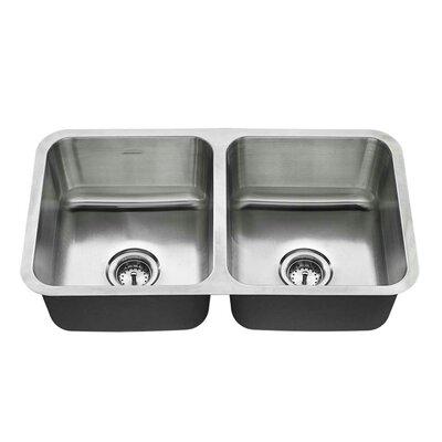 32 x 18 Double Basin Undermount Kitchen Sink