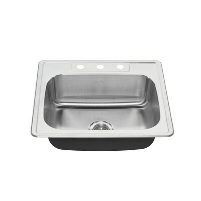Colony 25 x 22 Single Bowl Drop-In Kitchen Sink