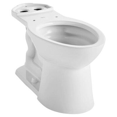 VorMax Dual Flush Elongated Toilet Bowl Finish: White