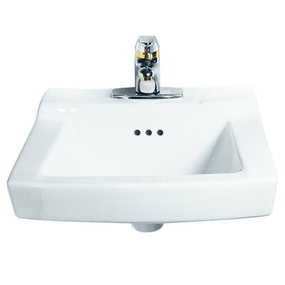 Comrade Ceramic 20 Wall Mount Bathroom Sink with Overflow Sink Finish: White