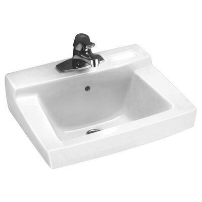 Declyn Ceramic 19 Wall Mount Bathroom Sink with Overflow