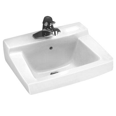 Declyn Ceramic 19 Wall Mount Bathroom Sink with Overflow