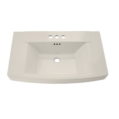 Townsend 30 Pedestal Bathroom Sink with Overflow Sink Finish: Linen