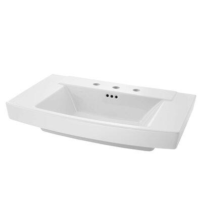 Townsend 35 Pedestal Bathroom Sink with Overflow Sink Finish: White