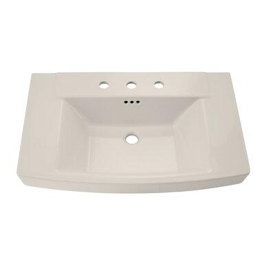 Townsend 35 Pedestal Bathroom Sink with Overflow Sink Finish: Linen