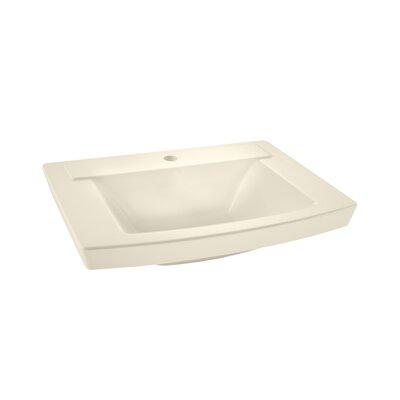 Townsend  24 Pedestal Bathroom Sink with Overflow Sink Finish: Linen