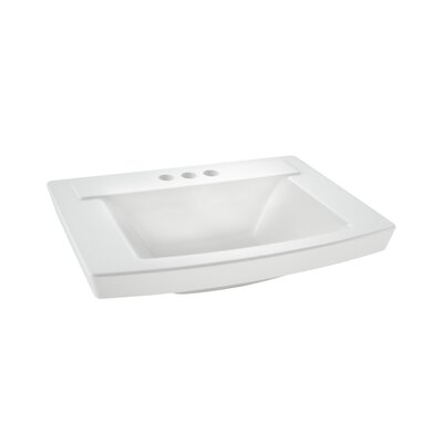 Townsend 16 Pedestal Bathroom Sink with Overflow Sink Finish: White