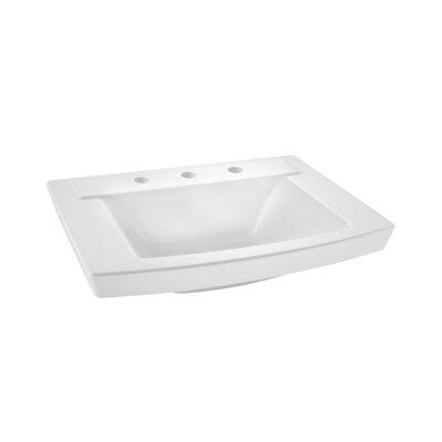 Townsend 16 Pedestal Bathroom Sink with Overflow Sink Finish: White