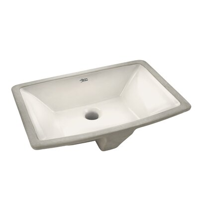 Townsend Vitreous China Rectangular Undermount Bathroom Sink with Overflow Sink Finish: Linen