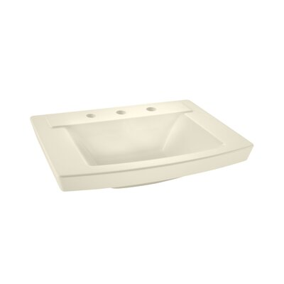 Townsend 16 Pedestal Bathroom Sink with Overflow Sink Finish: Linen