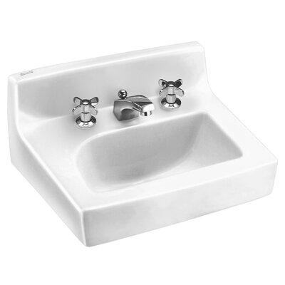 Penlyn Ceramic 18 Wall Mount Bathroom Sink with Overflow