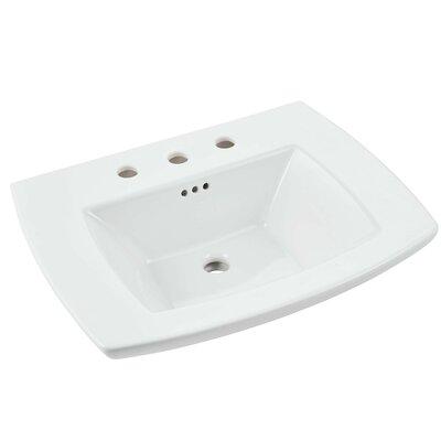 Edgemere 25 Pedestal Bathroom Sink with Overflow