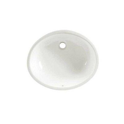 Ovalyn Ceramic Oval Undermount Bathroom Sink with Overflow Sink Finish: Linen