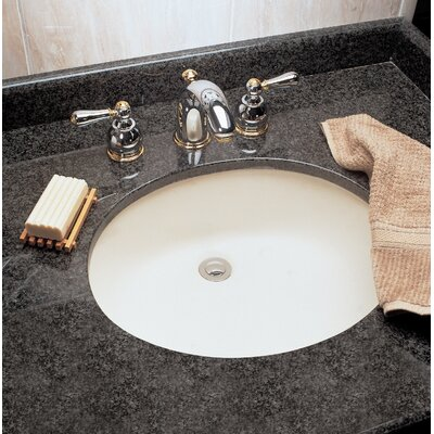 Ovalyn Ceramic Oval Undermount Bathroom Sink with Overflow Sink Finish: White