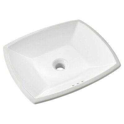 Edgemere Vitreous China Rectangular Undermount Bathroom Sink with Overflow