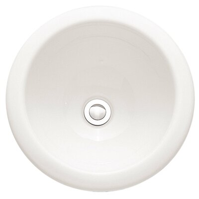 Ceramic Circular Undermount Bathroom Sink with Overflow Sink Finish: White