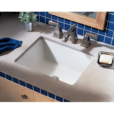 Boulevard Ceramic Rectangular Undermount Bathroom Sink with Overflow Sink Finish: White