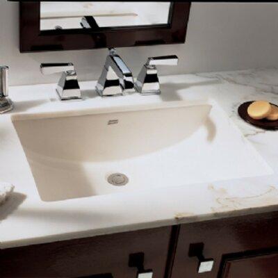 Studio Ceramic Rectangular Undermount Bathroom Sink with Overflow Sink Finish: Linen
