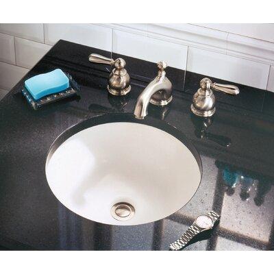 Orbit Ceramic Circular Undermount Bathroom Sink with Overflow Sink Finish: White