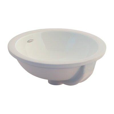 Orbit Ceramic Circular Undermount Bathroom Sink with Overflow Sink Finish: Linen