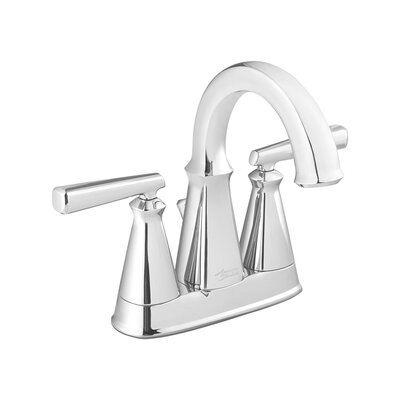 Edgemere Centerset Double Handle Bathroom Faucet with Drain Assembly Finish: Chrome