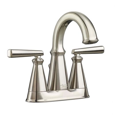 Edgemere Centerset Double Handle Bathroom Faucet with Drain Assembly Finish: Brushed Nickel