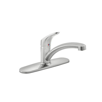 Colony Pro Single Handle Standard Kitchen Faucet with Deckplate Finish: Stainless Steel