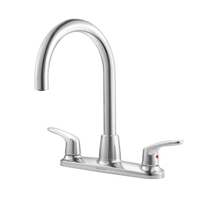 Colony Double Handle Kitchen Faucet Side Spray: Without Spray