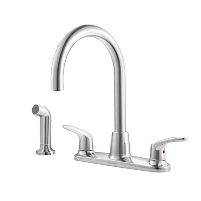 Colony Double Handle Kitchen Faucet Side Spray: With Spray