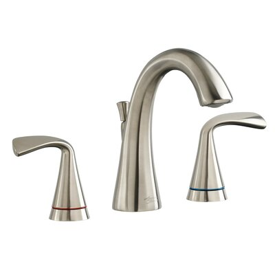 Fluent Widespread Bathroom Faucet Double Handle with Drain Assembly Finish: Satin Nickel
