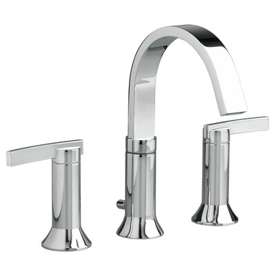 2 Handle High Arc Widespread Bathroom Faucet with Speed Connect Drain Finish: Polished Chrome