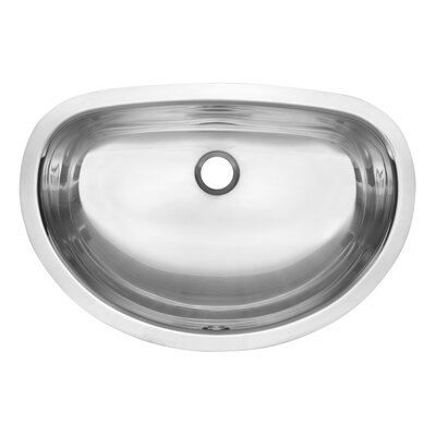 Prevoir Metal U-Shaped Undermount Bathroom Sink with Overflow
