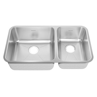 Prevoir 35.19 x 22.06 Stainless Steel Undermount Double Combination Bowl Kitchen Sink