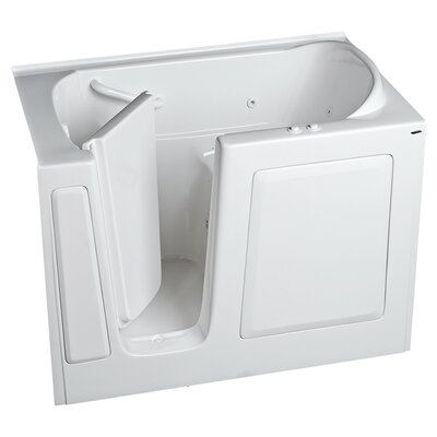 59.5 x 30 Walk In Whirlpool Bathtub Color: Linen, Drain Location: Left