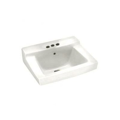 Declyn Ceramic 19 Wall Mount Bathroom Sink with Overflow Sink Finish: White