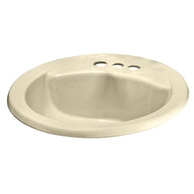 Cadet Everclean Self Rimming Bathroom Sink Sink Finish: Everclean Bone, Faucet Mount: 4 Centers