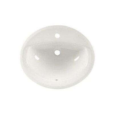 Aqualyn Self Rimming Bathroom Sink Sink Finish: White, Faucet Mount: Single-Hole