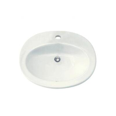 Piazza Self Rimming Bathroom Sink Sink Finish: White, Faucet Mount: Single-Hole