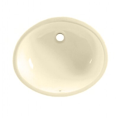 Ovalyn Oval Undermount Bathroom Sink with Overflow Sink Finish: Bone