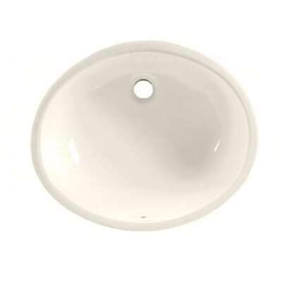 Ovalyn Oval Undermount Bathroom Sink with Overflow Sink Finish: Linen