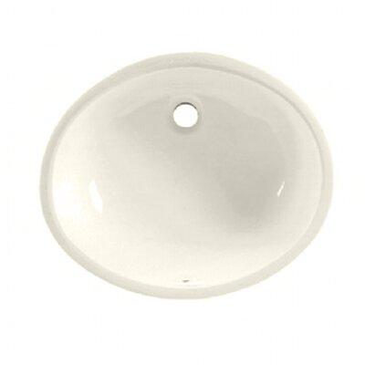 Ovalyn Oval Undermount Bathroom Sink with Overflow Sink Finish: Linen