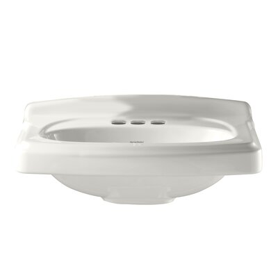 Townsend 24.38 Pedestal Bathroom Sink Faucet Mount: 4 Centers, Sink Finish: White