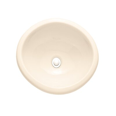 Sebring Ceramic Circular Drop-In Bathroom Sink with Overflow Sink Finish: Linen