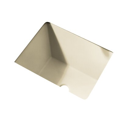 Boulevard Rectangular Undermount Bathroom Sink with Overflow Sink Finish: Linen