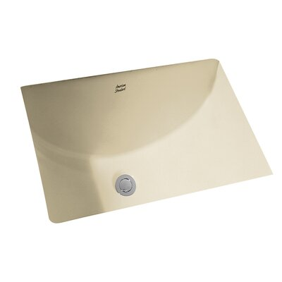 Studio Rectangular Undermount Bathroom Sink with Overflow Sink Finish: Linen